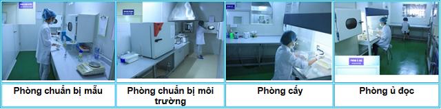Hình ảnh khu vực thử nghiệm vi sinh tại Tp. Hà Nội