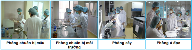 Hình ảnh khu vực thử nghiệm vi sinh tại Tp. Cần Thơ