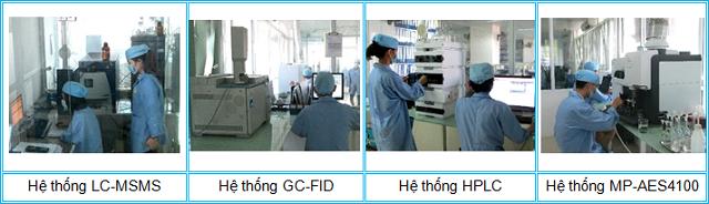 Hình ảnh khu vực thử nghiệm hóa học tại Tp. Hà Nội