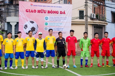 Giao hữu bóng đá Đoàn thanh niên ba đơn vị