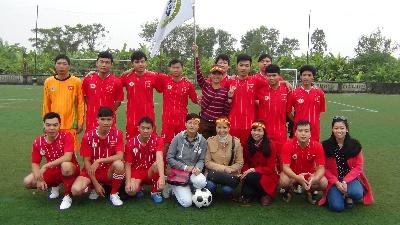 VinaCert tham gia giải bóng đá quận Hoàng Mai 2014