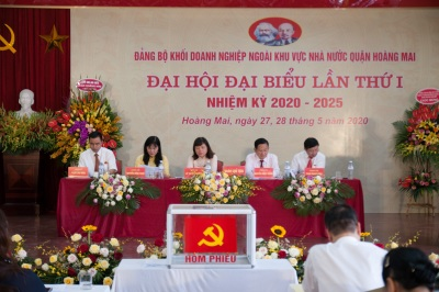 Đại hội đảng bộ khối Doanh nghiệp Quận Hoàng Mai