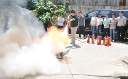 VinaCert tham gia khóa tập huấn nghiệp vụ phòng cháy và chữa cháy