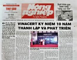 Báo chí viết về VinaCert: VinaCert kỷ niệm 10 năm thành lập và phát triển