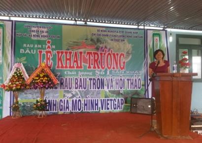 VinaCert tham gia Hội thảo đánh giá mô hình VietGAP trên địa bản tỉnh Quảng Nam