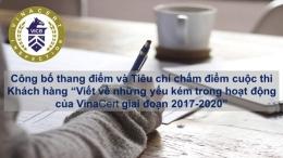 """Công bố thang điểm và tiêu chí chấm điểm cuộc thi Khách hàng """"Viết về những yếu kém trong hoạt động của VinaCert giai đoạn 2017-2020"""""""
