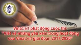 """Phát động cuộc thi """"Viết về những yếu kém trong hoạt động của VinaCert giai đoạn 2017-2020"""""""