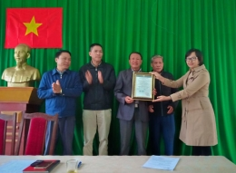 VinaCert trao chứng chỉ VietGAP cho Tổ hợp tác Bưởi Phúc Trạch, xã Hương Trạch