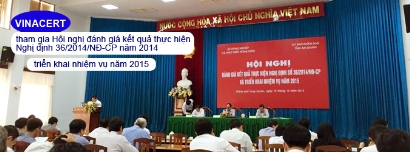 VinaCert tham gia Hội nghị đánh giá kết quả thực hiện Nghị định 36/2014/NĐ-CP năm 2014, triển khai nhiệm vụ năm 2015