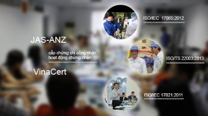 JAS-ANZ cấp chứng chỉ công nhận ISO/IEC 17021:2011, ISO/IEC 17065:2012, ISO/TS 22003:2007 đối với hoạt động chứng nhận của VinaCert