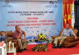 VinaCert phối hợp với AOSC tổ chức tọa đàm kỷ niệm ngày Doanh nhân Việt Nam