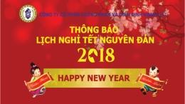 Thông báo lịch nghỉ Tết Nguyên đán Đinh Dậu 2018