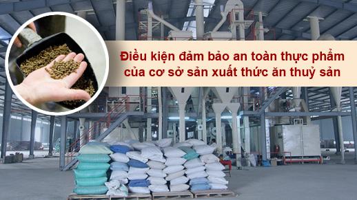 Hợp quy cơ sở sản xuất thức ăn thủy sản