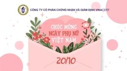 VinaCert - Chúc mừng ngày phụ nữ Việt Nam
