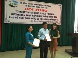 VinaCert trao chứng nhận VietGAP cho HTX 14/10 Hòa Nhờ A