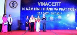 VinaCert long trọng tổ chức Lễ mít tinh kỷ niệm 10 năm thành lập và đón nhận Bằng khen của Liên hiệp các Hội KHKT Việt Nam